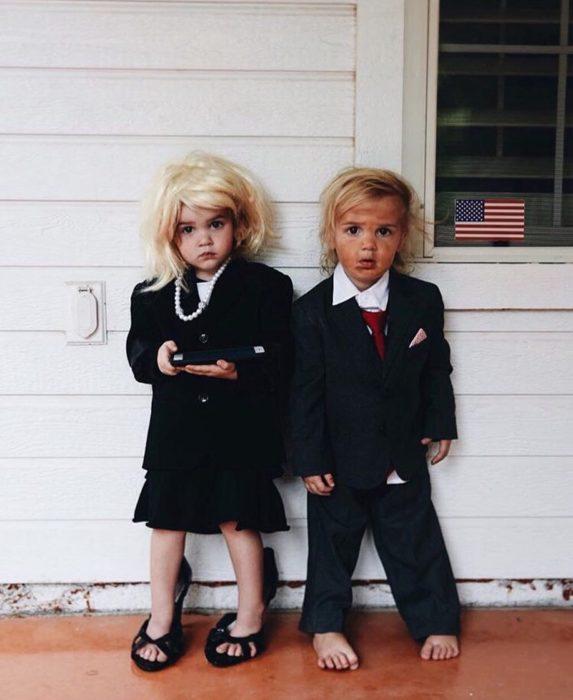 Disfraces niños hillary y trump
