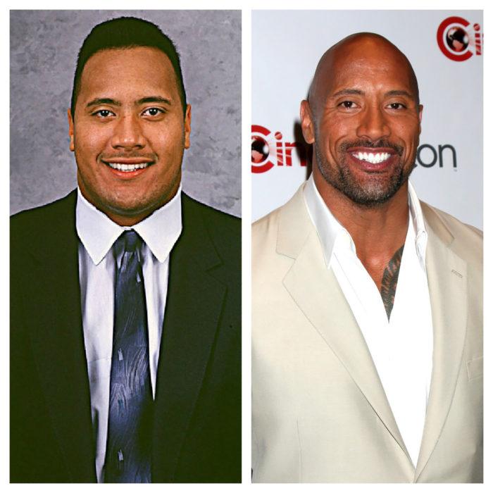 dwayne johnson antes y después