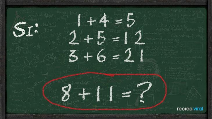 Ecuación 8+11?