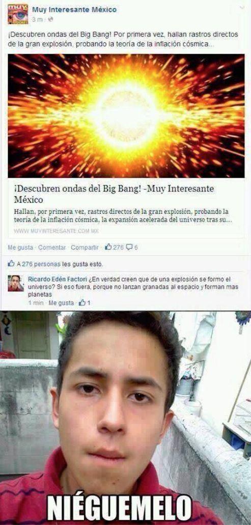 Filósofos Face - teoria del big bang