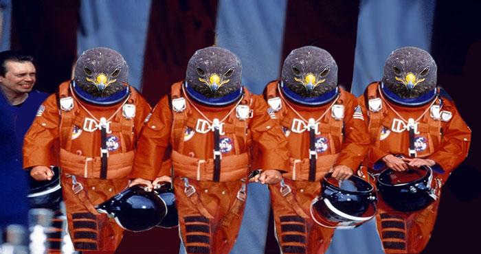 Halcón Batalla PS - astronautas