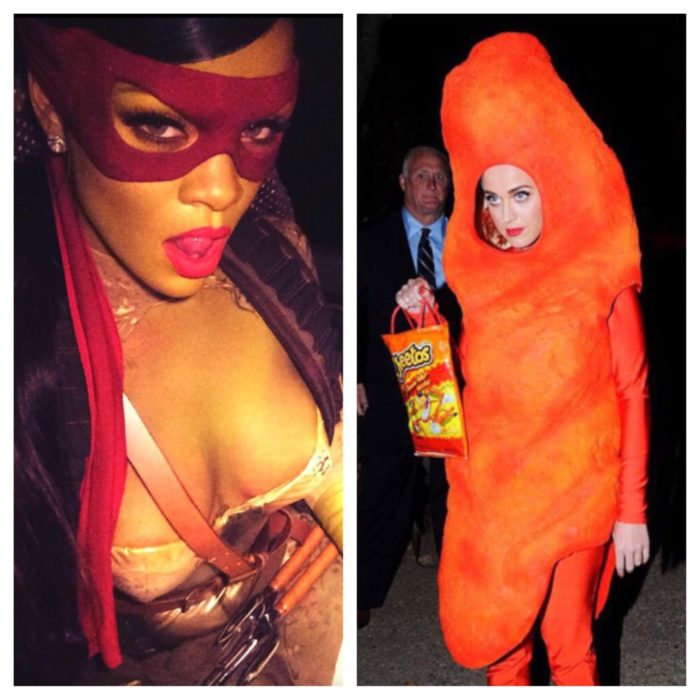 2 Tipos de chicas - disfraces rihanna y katy perry