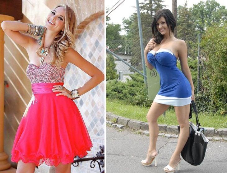 2 Tipos de chicas - vestido sexy y vestido bonito