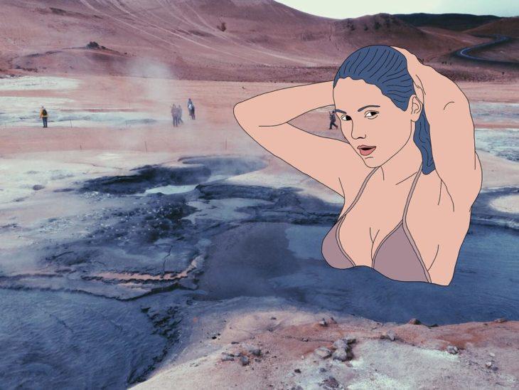 Ilustraciones Julia - Mujer bañándose