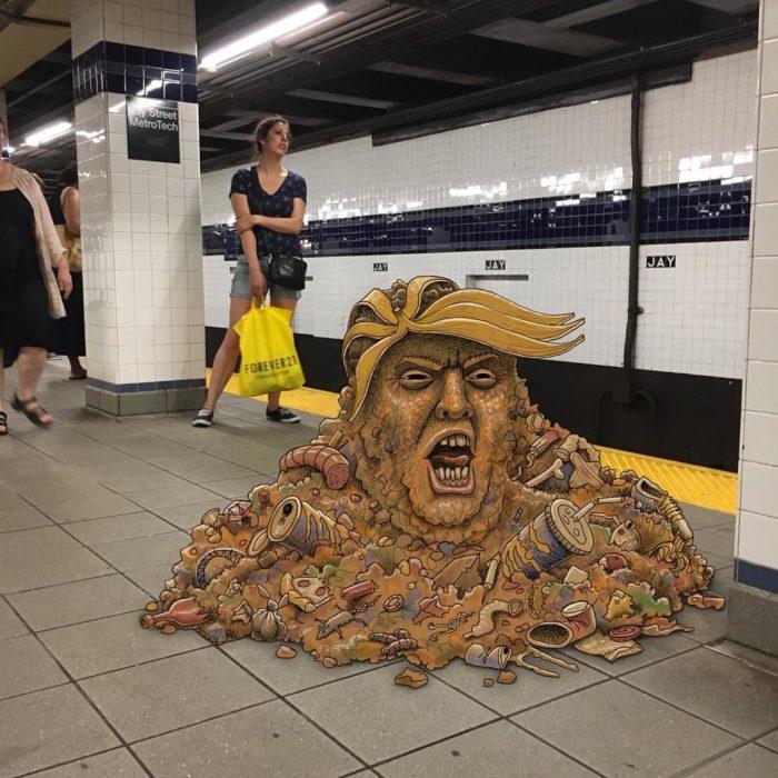 Ilustraciones metro - basura donald trump