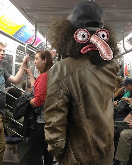 Ilustraciones metro - un monstruo nariz grandota