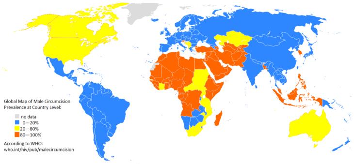 Mapas curiosidades mundo - hombres circuncidados