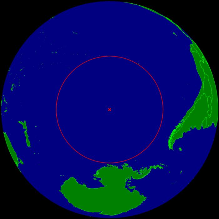 Mapas curiosidades mundo - punto mas alejado de una superficie terrestre