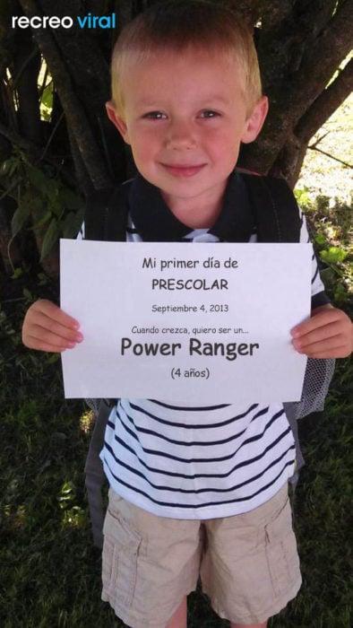 Cuando sea grande quiero ser un power ranger