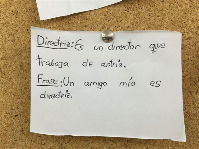 Niños palabras significan otra cosa - directriz, director que es actriz