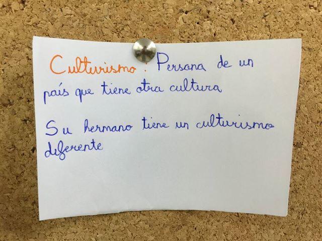 Niños palabras significan otra cosa - culturismo persona de un país otra cultura