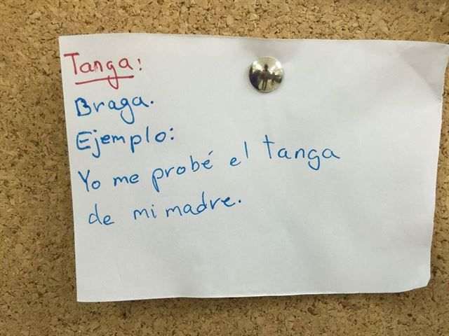 Niños palabras significan otra cosa - tanga, braga