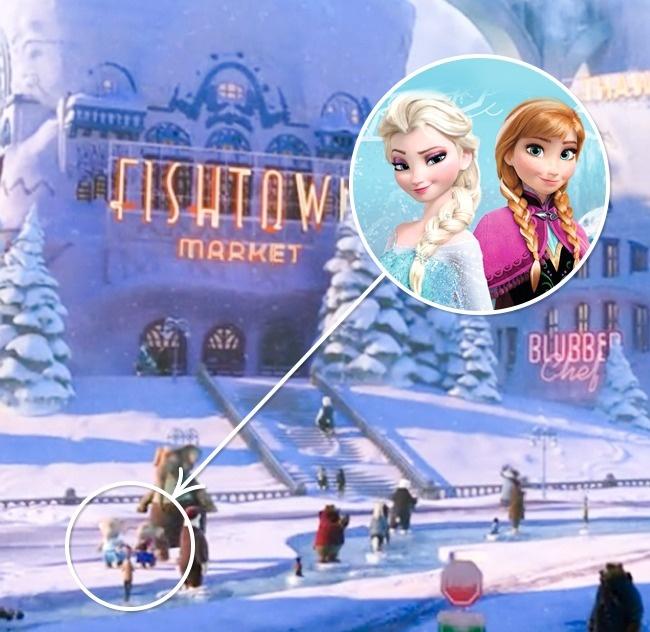 Elsa y Ana en Zootopia