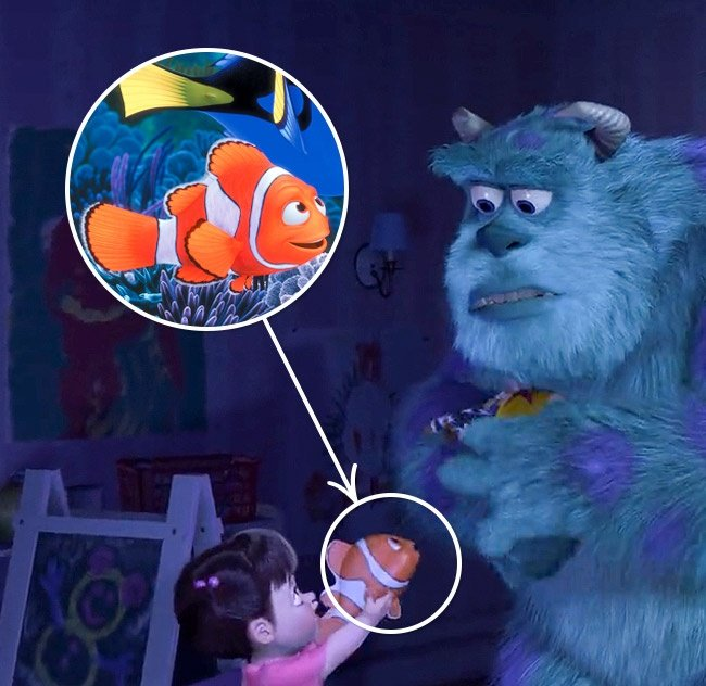Nemo en la película de Monsters Inc