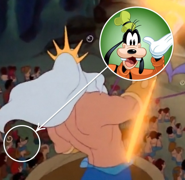 Goofy y el Pato Donald en la Sirenita