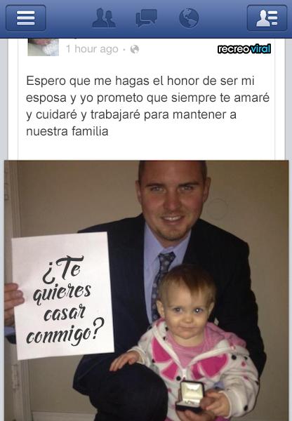 Peores propuestas de matrimonio - por facebook con una foto