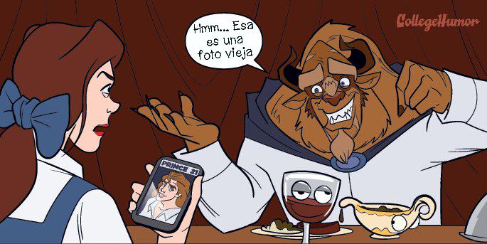 Cómics la Bestia usó una foto vieja en Tinder