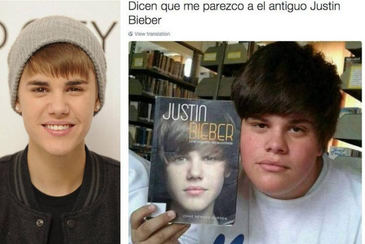 Chico dice que se parece a Justin Bieber antes