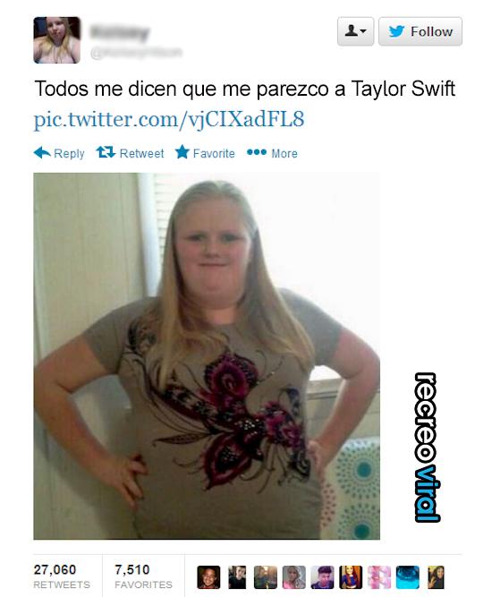 Mujer cree que se parece a Taylor Swift