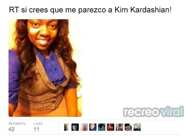 Cree que se parece a Kim Kardashian
