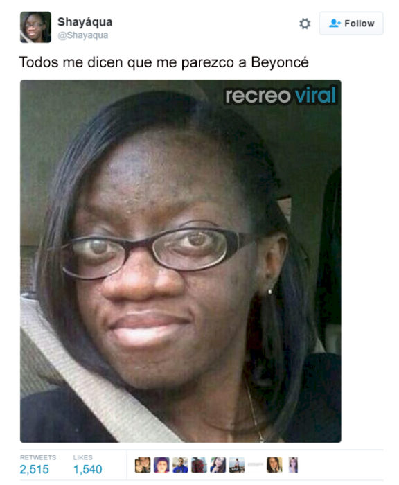 Chica piensa que está igual a Beyoncé