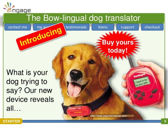 Productos perros - traductor de ladridos