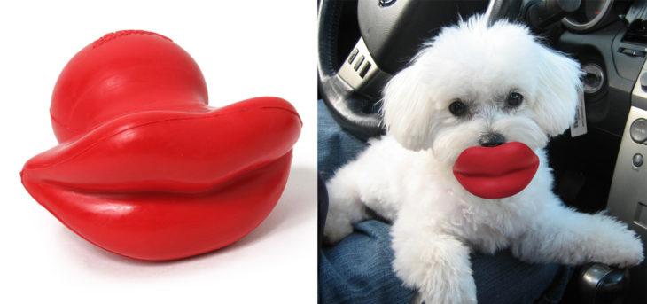Productos perros - labios juguete perro