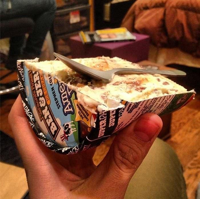 medio helado... literal