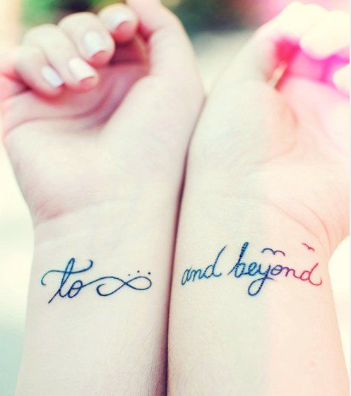 Tatuajes amigas to infinity and beyond