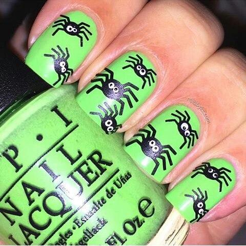 arañitas con fondo verde