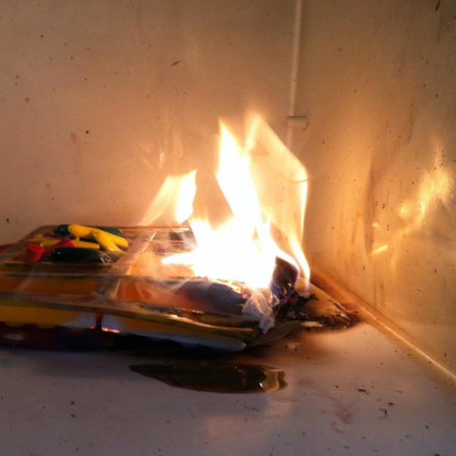 crayones quemados