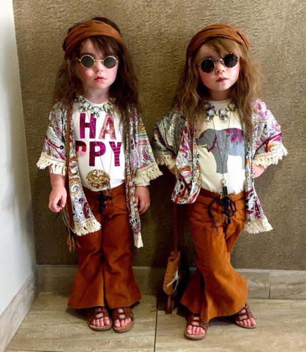 Disfraces niños hippies
