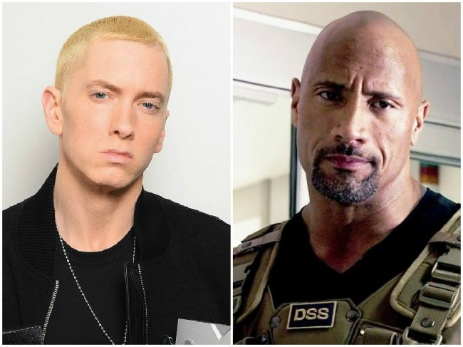 Eminem y Dwayne Johnson