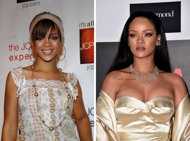 rihanna antes y después