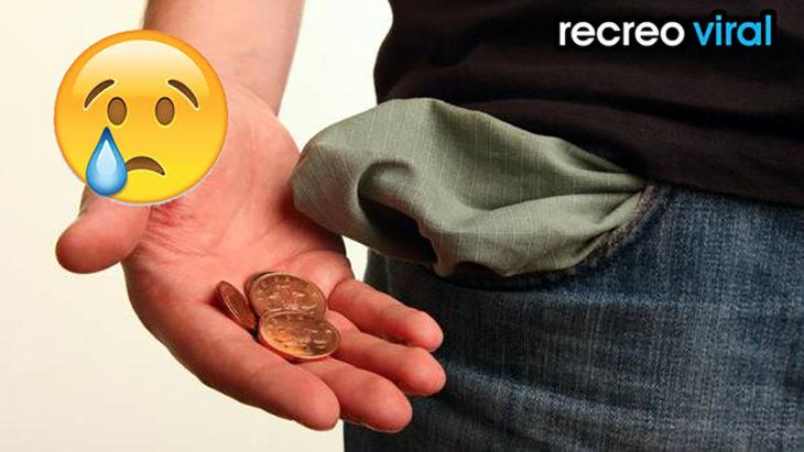 bolsillo sin dinero