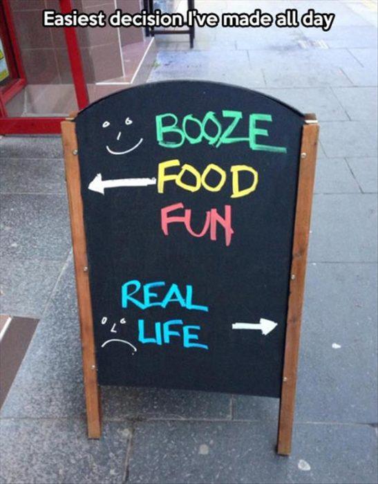 cartel de bar