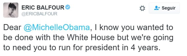 Tuit Michelle Casa Blanca regresa en 4 años