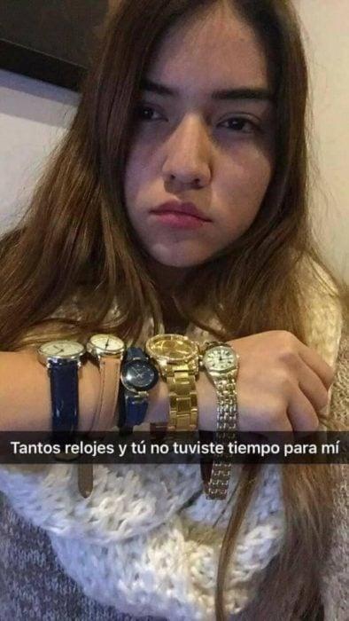 Historias Snapchat - tantos relojes