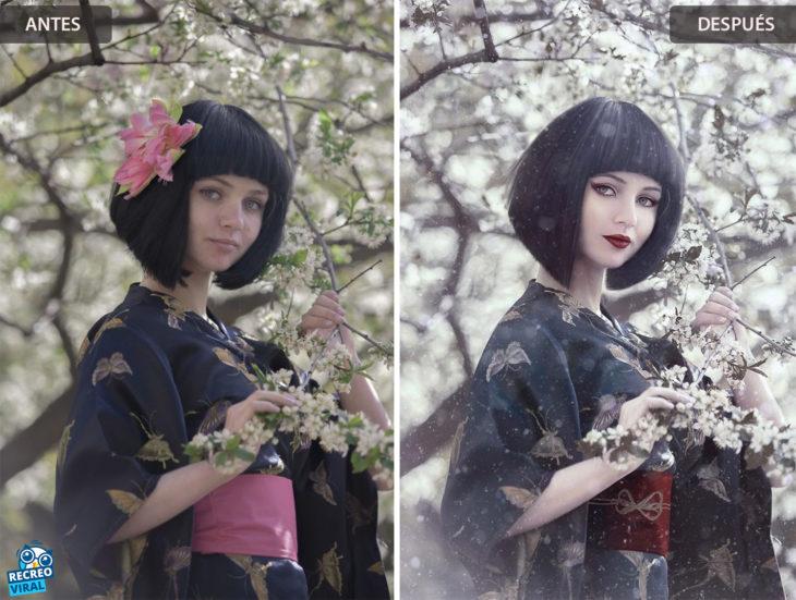 Magia de Photoshop - Mujer con kimono