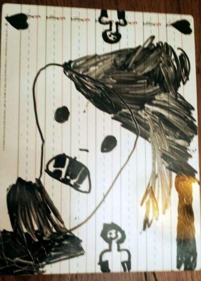 dibujo de un monstruo hecho por una niña