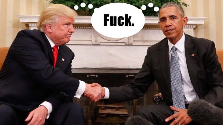 trump y obama photoshop jue viéndolo por la televisión con ventana de pensamiento