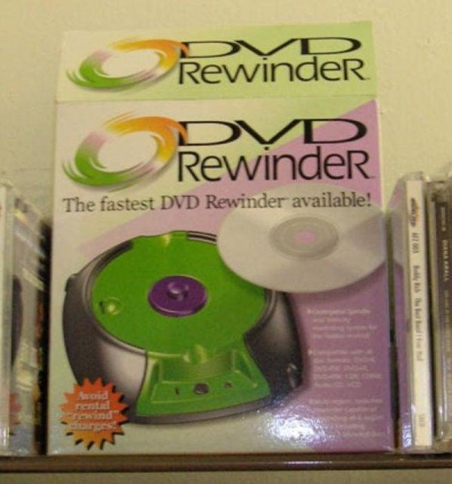 rebobinador de dvd