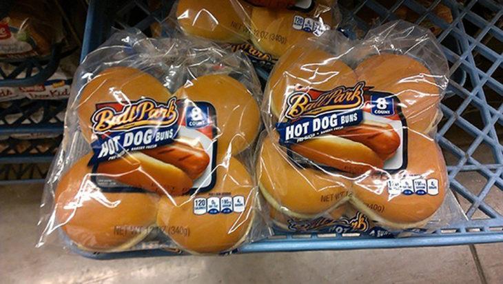 pan de hamburguesas en bolsa de hotdogs