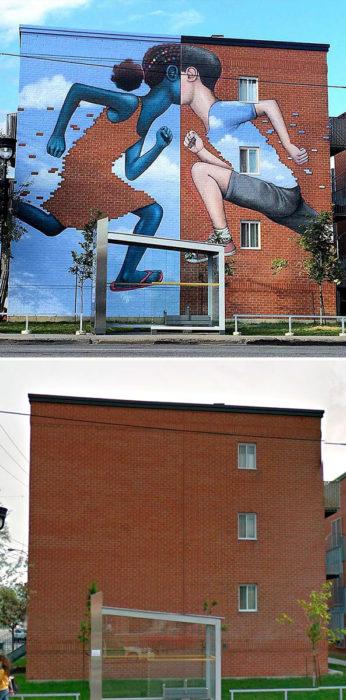 mural Niños de ladrillo - Montreal, Canadá