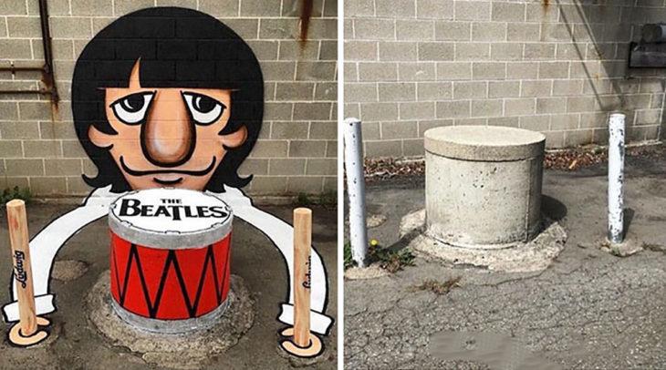 arte urbano Ringo Starr - Barcelona, España