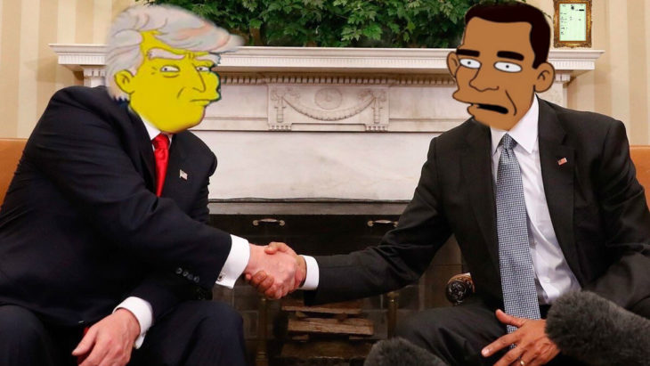 trump y obama photoshop los simpson