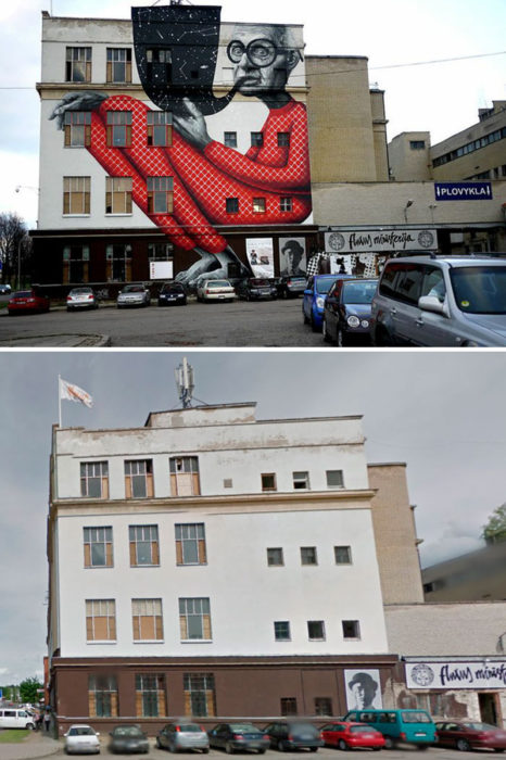 mural Abuelo Sabio - Kaunas, Lituania