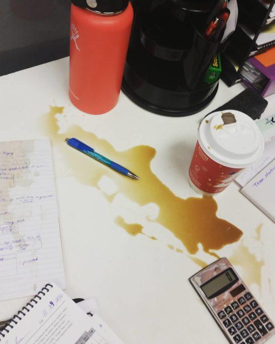 café se tirado en tarea