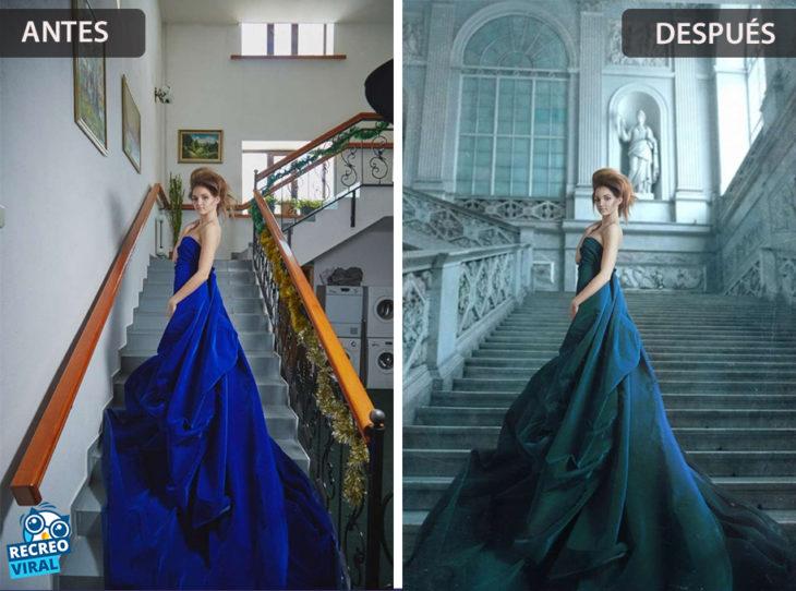 Magia de Photoshop - Mujer en vestido