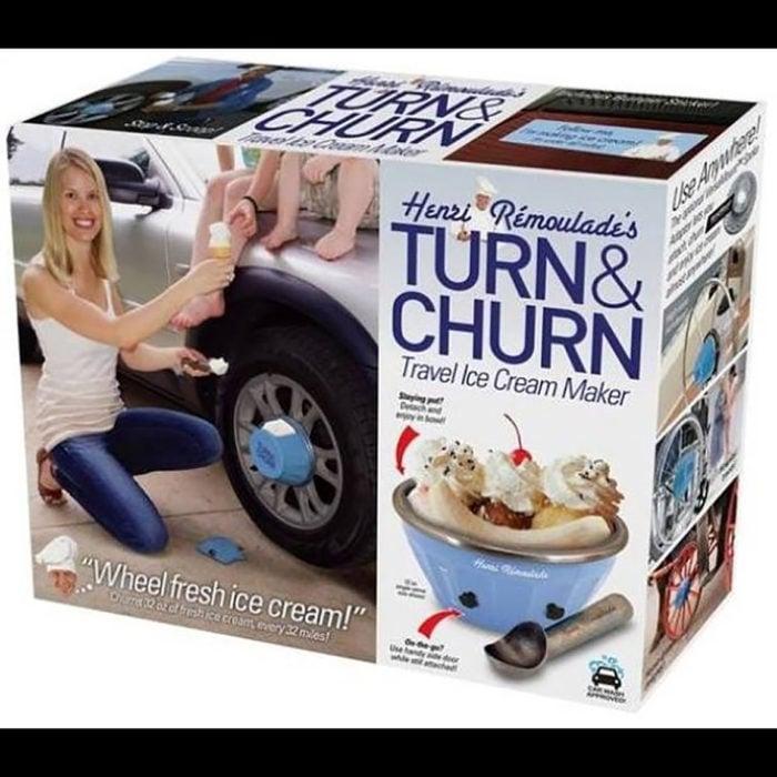 Aparato para hacer helado mientras manejas